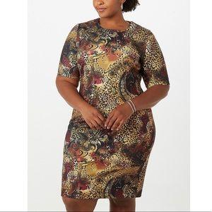 NWT Plus Size Animal Print Flattering Dress